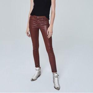 BNWT AG Crimson Leather Jean